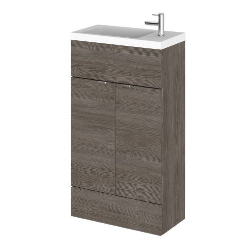 Elite Grey Avola 500mm Compact Vanity Unit & Basin